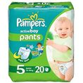 Pampers Active Boy, Junior 5 (12-18 kg) pieluchomajtki 20szt.