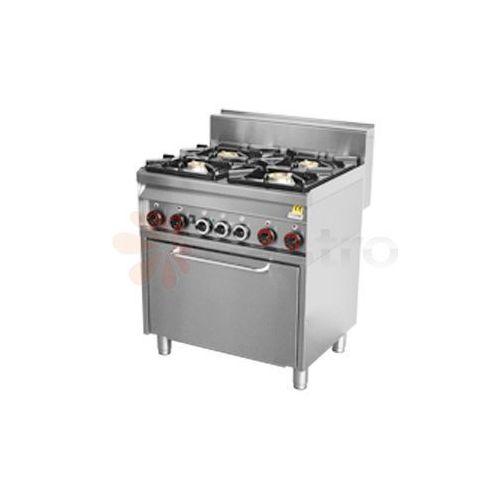 Kuchnia gazowa REDFOX CF4-8G (22kW) - 4 palniki z piekarnikiem
