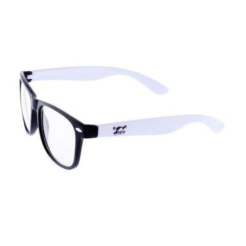 okulary ray ban biało czarne